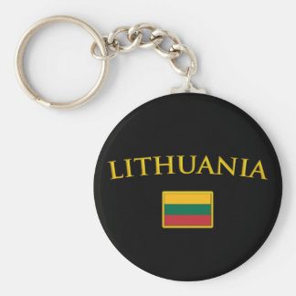 Golden Lithuania Key Ring
