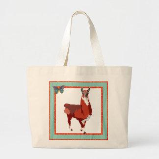 Golden Llama Art Bag