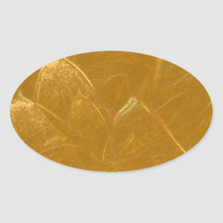 GOLDEN LOTUS2 OVAL STICKER