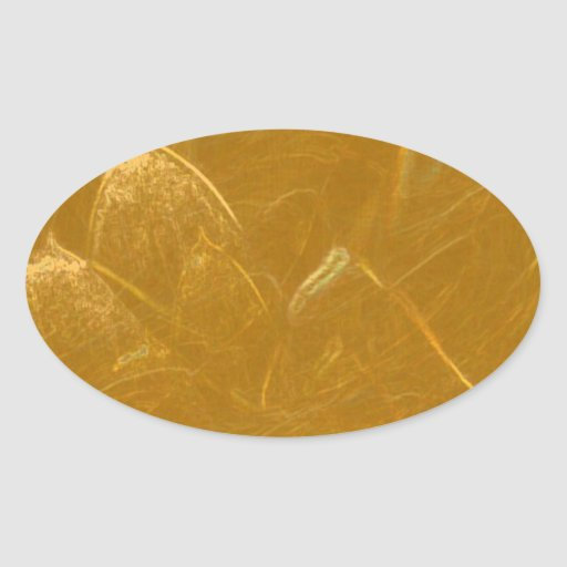 GOLDEN LOTUS2 OVAL STICKERS