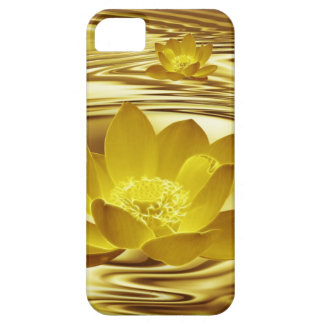 Golden lotus flower barely there iPhone 5 case