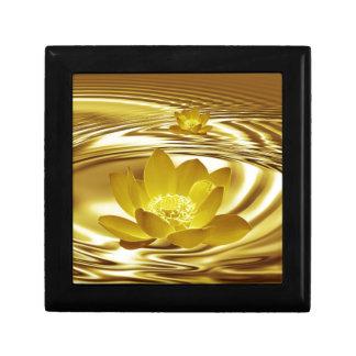 Golden lotus flower gift box