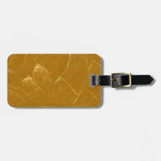 Golden LOTUS Flower gold petals Luggage Tag