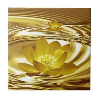 Golden lotus flower tiles