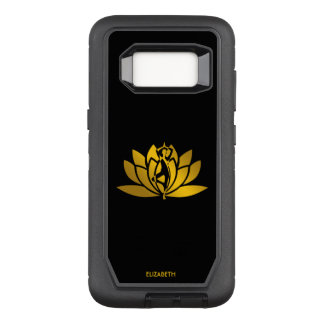 Golden Lotus Flower Yoga Meditation Cool OtterBox Defender Samsung Galaxy S8 Case