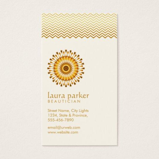 Golden Lotus Flower Yoga Meditation Health Spa Business Card