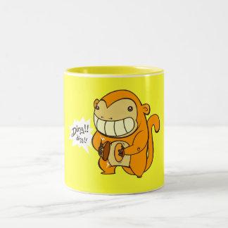 Golden Lucky Monkey Two-Tone Mug