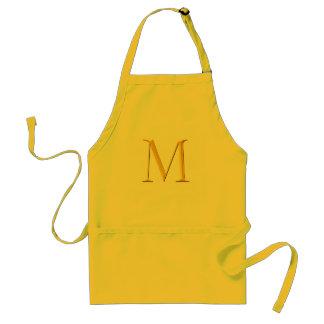 Golden M Monogram Standard Apron