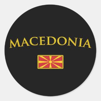 Golden Macedonia Classic Round Sticker