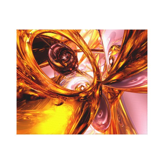Golden Maelstrom Abstract Canvas Print
