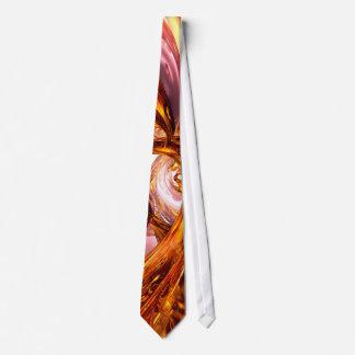 Golden Maelstrom Abstract Tie