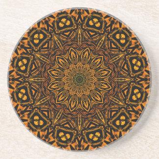 Golden Mandala Coaster