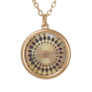 Golden Mandala Gold Plated Necklace