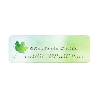 Golden Maple Leaf Green Greenly Mint RSVP Labels