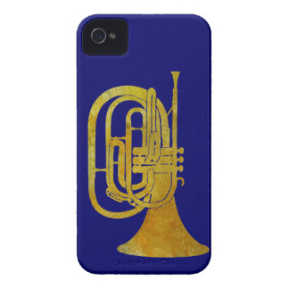 Golden Marching French Horn iPhone 4 Cases