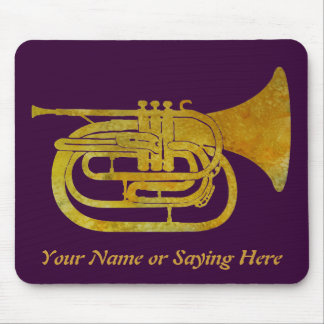 Golden Marching French Horn Mouse Pad