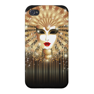 Golden Mask Mardi Gras Party iPhone 4 Glossy Case iPhone 4 Case