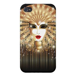 Golden Mask Mardi Gras Party iPhone 4 Matte Case iPhone 4 Case