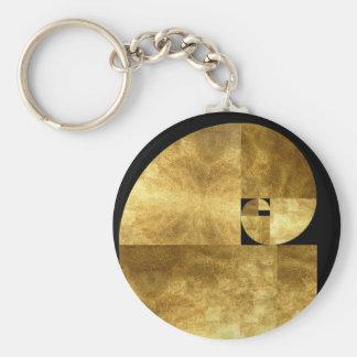 Golden Mean Basic Round Button Key Ring