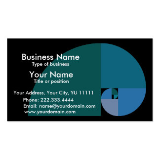 Golden Mean Business Card Templates