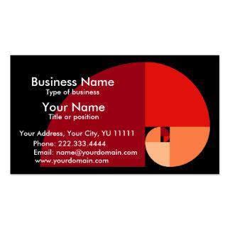Golden Mean, Fibonacci Spiral Art Business Card