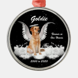 Golden Memories Gaurdian Angel Dog Christmas Ornament