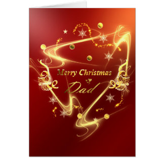 golden merry christmas dad card