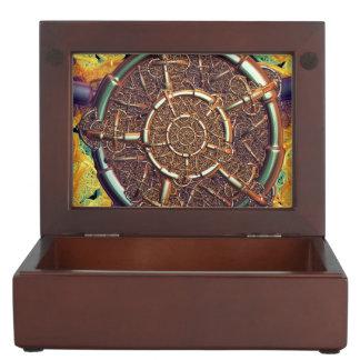 Golden metal abstract memory box