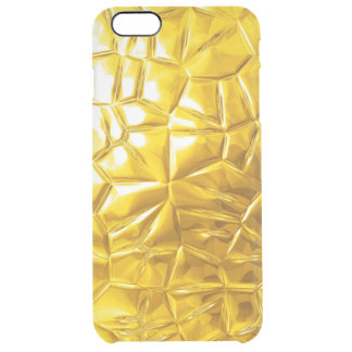 golden metal pattern texture clear iPhone 6 plus case