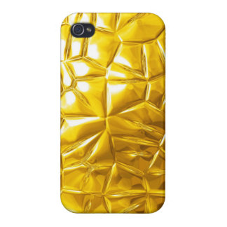 golden metal pattern texture cover for iPhone 4