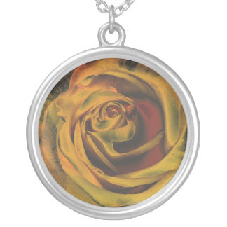 Golden Metalic Rose Necklace