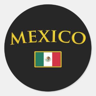 Golden Mexico Classic Round Sticker