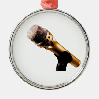 Golden Microphone Christmas Ornament