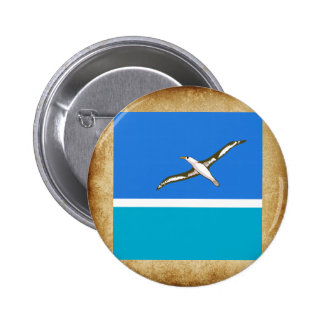 Golden Midway Islands Flag 6 Cm Round Badge
