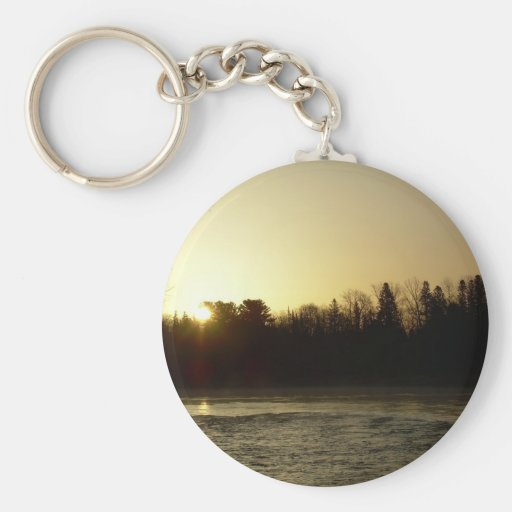 Golden Mississippi river sunrise Key Chain