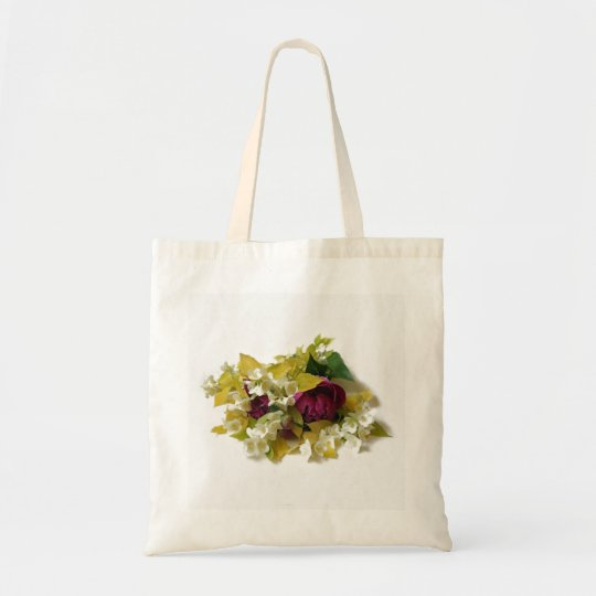 Golden Mock Orange and Pink Peonies Tote Bag