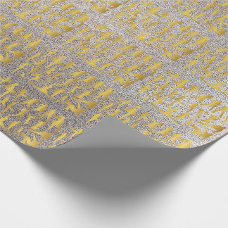 Golden Modern Classic Hip Hop Dance Silver Wrapping Paper