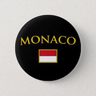 Golden Monaco 6 Cm Round Badge