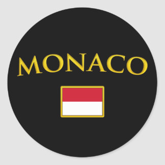Golden Monaco Classic Round Sticker