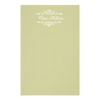 Golden Monogrammed Customized Stationery