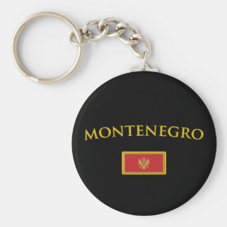 Golden Montenegro Basic Round Button Key Ring