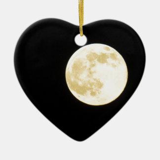Golden moon christmas ornament