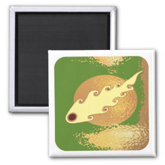Golden Moon Effect Square Magnet