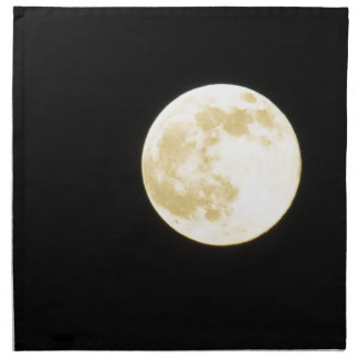 Golden moon napkin