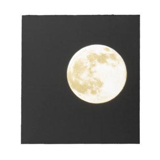 Golden moon notepad