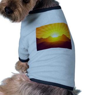 Golden Mountain Sunrise Ringer Dog Shirt