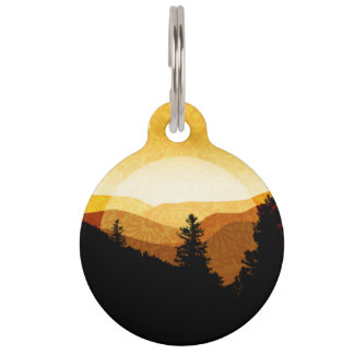 Golden Mountains Pet ID Tag