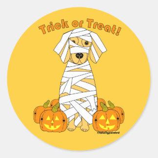 Golden Mummy Round Sticker