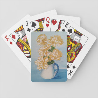 Golden Mums Ina Blue Crackle Cup Playing Cards