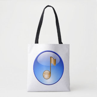 Golden Music Note Bag